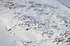 Arctic coast pollution - rusty fuel barrels Royalty Free Stock Image