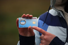 Arctic Credit Card Royalty Free Stock Images