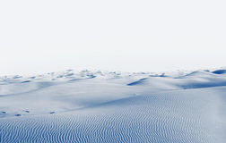 Arctic desert. winter landscape with snow drifts Stock Image