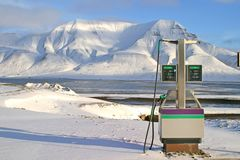 Arctic gas station Royalty Free Stock Image