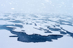 Arctic Glacier. The Arctic has been covered with ice and snow all year round. With the gradual warming of the earth's climate, the area of the Arctic ice is royalty free stock image