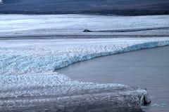 Arctic glacier. Ice and cold. area Novaya Zemlya Royalty Free Stock Image
