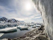 Arctic glacier landscape - Spitsbergen Stock Photography