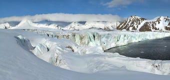 Arctic glacier panorama Stock Image