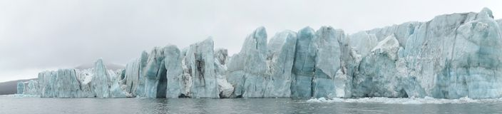 Arctic - glacier panorama Stock Photo