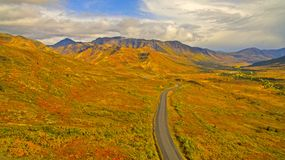 Arctic highway. Dempster highway run through arctic Canada Royalty Free Stock Photography