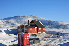 Arctic housing, Ilimanaq, Greenland Royalty Free Stock Image