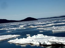 Arctic Ice. Photo of arctic ice in the springtime Royalty Free Stock Photos