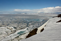 Arctic. Ice of the Arctic Ocean  of Chukotka. Royalty Free Stock Photo