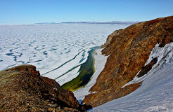 Arctic. Ice of the Arctic Ocean off Chukotka. Royalty Free Stock Photos