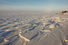 Arctic. Ice of the Arctic Ocean off  Chukotka. Royalty Free Stock Image