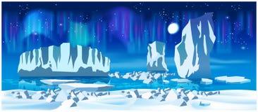 Arctic ice at night Royalty Free Stock Photos