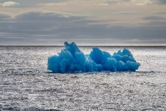 Arctic iceberg ice stock area Novaya Zemlya. Stock Images