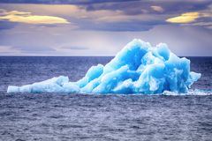 Arctic iceberg ice stock area Novaya Zemlya. Array of ice floating in ocean Royalty Free Stock Images