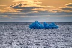 Arctic iceberg ice stock area Novaya Zemlya. Royalty Free Stock Images