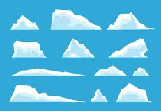 Free Arctic Iceberg. North Pole Travelling, Ice Rock Glacier Mountain Winter Landscape Elements. Snow Nature, Melting Royalty Free Stock Image - 197433686