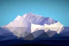 Arctic iceberg in the polygonal style. Vector illustration stock illustration