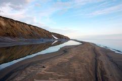 Arctic island summer calm sea coast Royalty Free Stock Photography