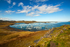 Arctic Lagoon. Lagoon in the Laptev Sea in the summer time Stock Images