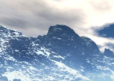 Arctic landscape. Arctic  landscape. Winter season. 3d graphics Stock Images