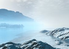 Arctic landscape. Arctic  landscape. Winter season. 3d graphics Stock Photography