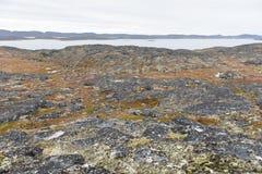 Arctic landscape around Aasiaat Stock Images