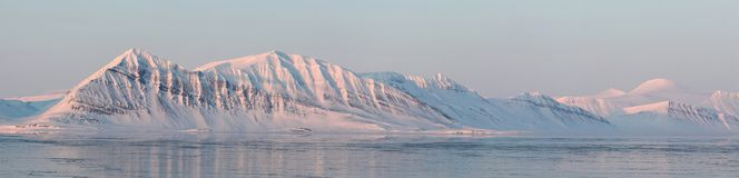 Arctic landscape - BIG PANORAMA Royalty Free Stock Image