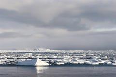Arctic landscape, frozen fjord Stock Images