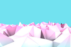 Arctic landscape. Futurisric ice background. Low Poly minimalism 3D art Stock Images