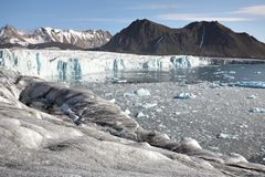 Arctic landscape - glacier and mountains Stock Photo