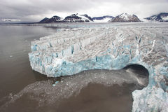 Arctic landscape - glaciers - global warming Royalty Free Stock Photography