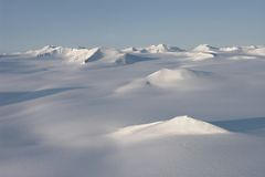 Arctic landscape, glaciers and mountains. Spitsbergen Royalty Free Stock Photography