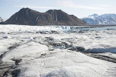 Arctic landscape with glaciers and mountains Royalty Free Stock Images