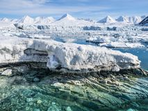 Arctic landscape - glaciers and mountains - Spitsbergen Royalty Free Stock Images