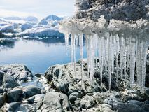 Arctic landscape - glaciers and mountains - Spitsbergen Stock Photo