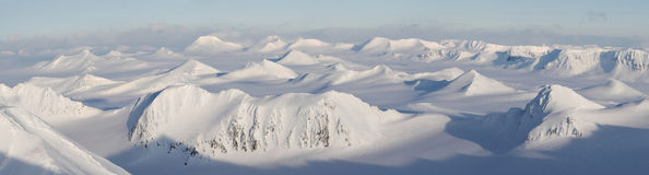 Arctic landscape - mountains  - PANORAMA Royalty Free Stock Images