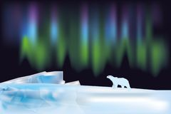 Arctic landscape with the northern lights stock photos