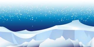 Arctic landscape pattern Royalty Free Stock Photo