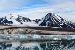 Arctic landscape with mountains royalty free stock image