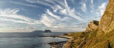 Arctic landscape- The tip of the Lofoten Stock Images
