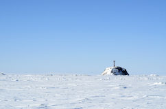 Arctic Landscape With Lighthouse Royalty Free Stock Images