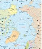 Arctic map stock illustration