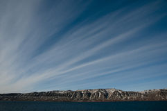 Cirrostratus - Greenland Royalty Free Stock Photos
