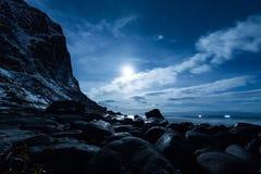 Arctic moon scene Stock Image