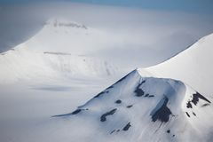 Arctic mountain landscape royalty free stock photography