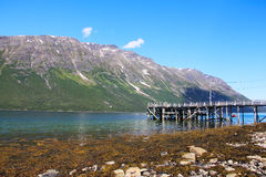 Arctic mountains and fjord Stock Photo