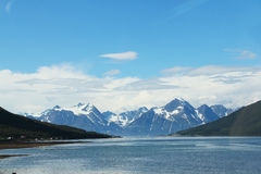 Arctic mountains and fjord Royalty Free Stock Image