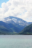 Arctic mountains and fjord Royalty Free Stock Photos