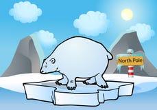 arctic niedźwiedzia spławowy biegunowy morze Obraz Royalty Free
