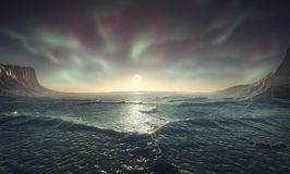 Arctic night vector illustration